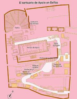 Mapa de Delfos.