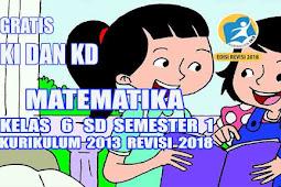 Analisis Pemetaan KD Matematika Kelas 6 SD Semester 1 Kurikulum 2013 Revisi 2018