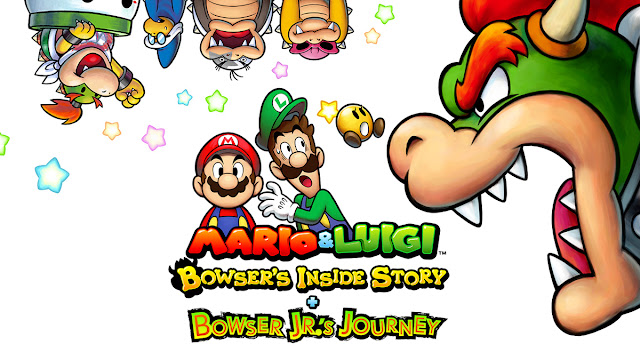 Mario & Luigi: Bowser's Inside Story + Bowser Jr.'s Journey box art Kamek Morton Roy