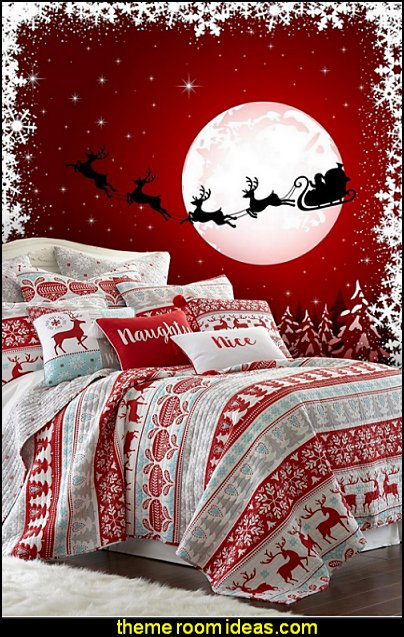 Christmas decorating ideas - Christmas decor - Christmas decorations - Christmas kitchen decor - santa belly pillows - Santa Suit Duvet covers - Christmas bedding - Christmas pillows - Christmas  bedroom decor  - winter decorating ideas - winter wonderland decorating - Christmas Stockings Holiday decor Santa Claus - decorating for Christmas