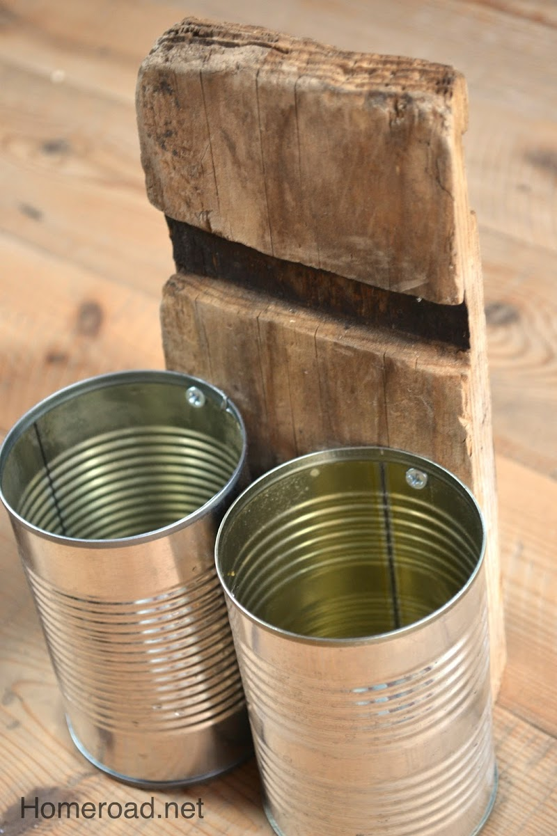 Rustic Recycled Aluminum Can Organizer