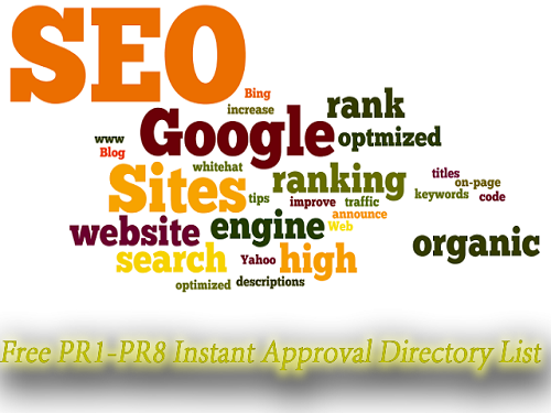Free PR1-PR8 Instant Approval Directory List