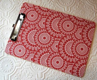 red and white clipboard