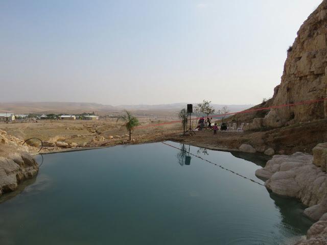 הבריכה שנבנתה במבואות יריחו