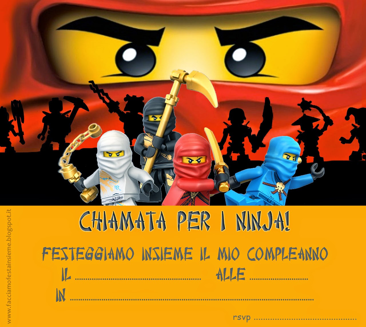 Favorito Facciamo festa insieme: Lego Ninjago party - Inviti di compleanno  BJ37