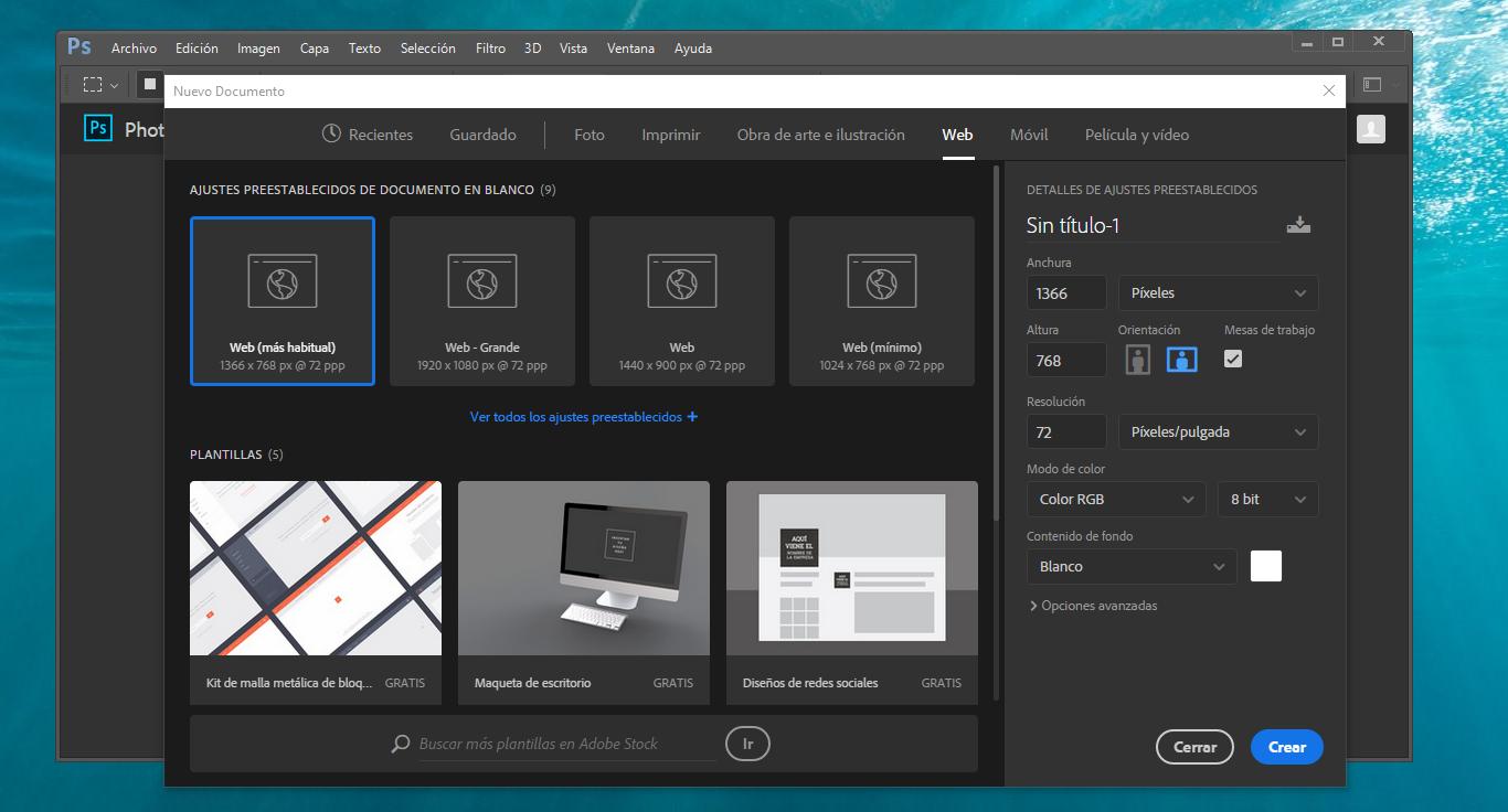 photoshop descargar gratis en español para windows 7 2017