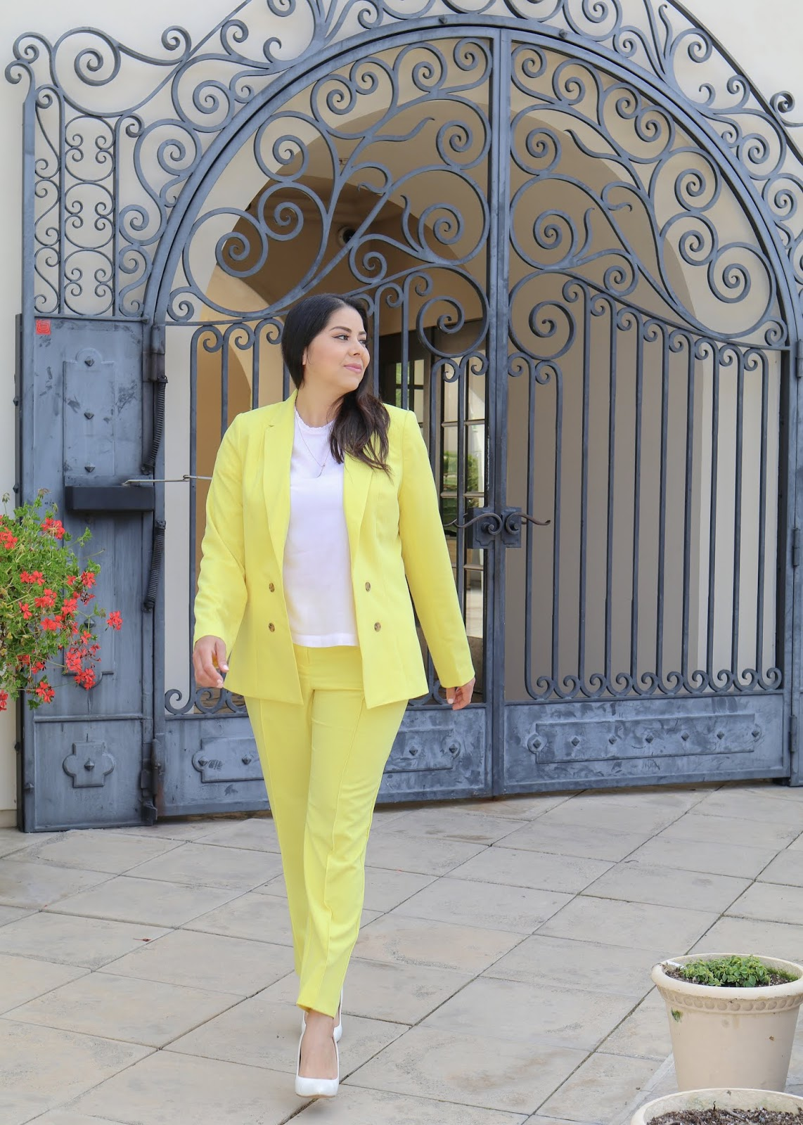 AllAtJCP, JCPenney Yellow trousers, Affordable Spring fashion