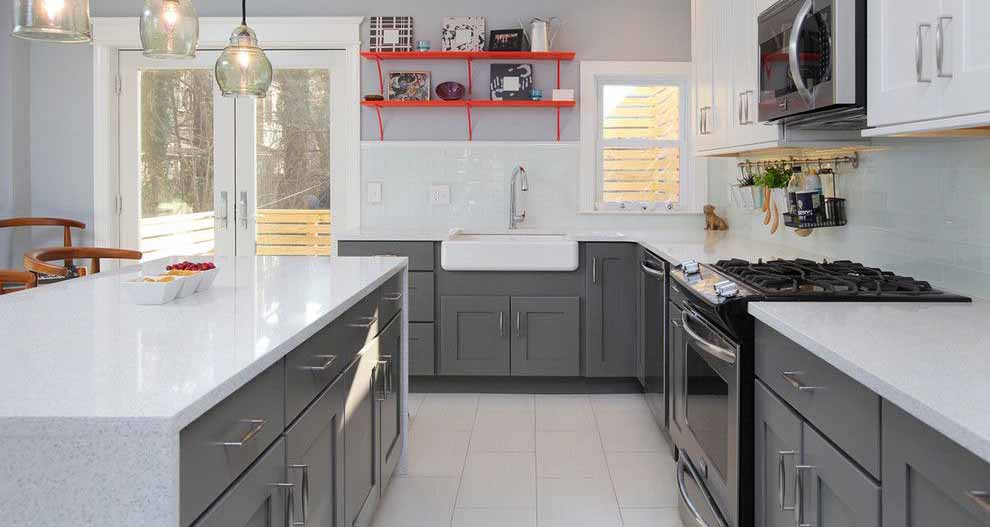 30 Ways To Make Gray Kitchen Cabinets Design Ideas For Inspiration