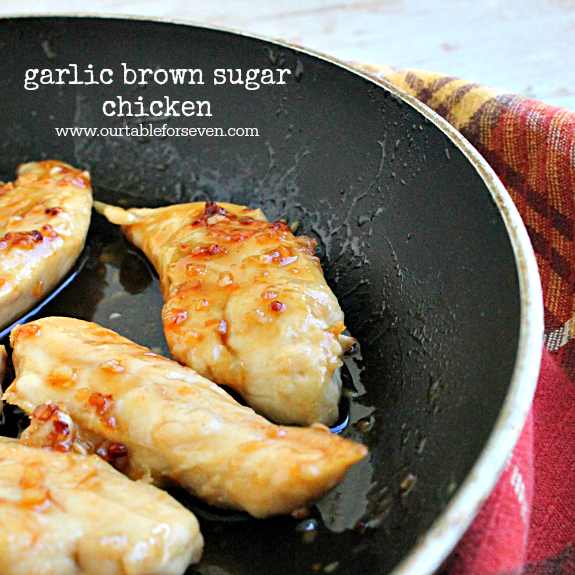Garlic Brown Sugar Chicken #SecretRecipeClub