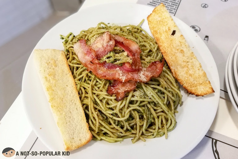 Brooklyn's Pesto Pasta Dish