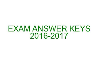 COMPETETIVE EXAM ANSWER KEYS 2016-2017