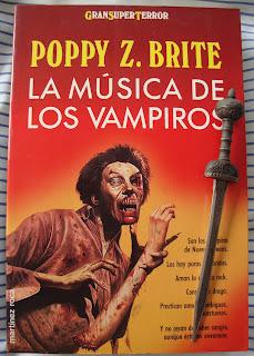 Portada del libro La música de los vampiros, de Poppy Z. Brite