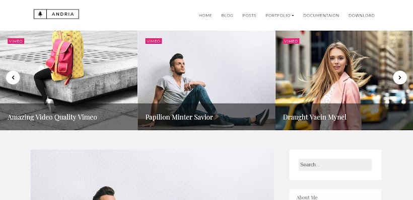Andria Free Blogger Template