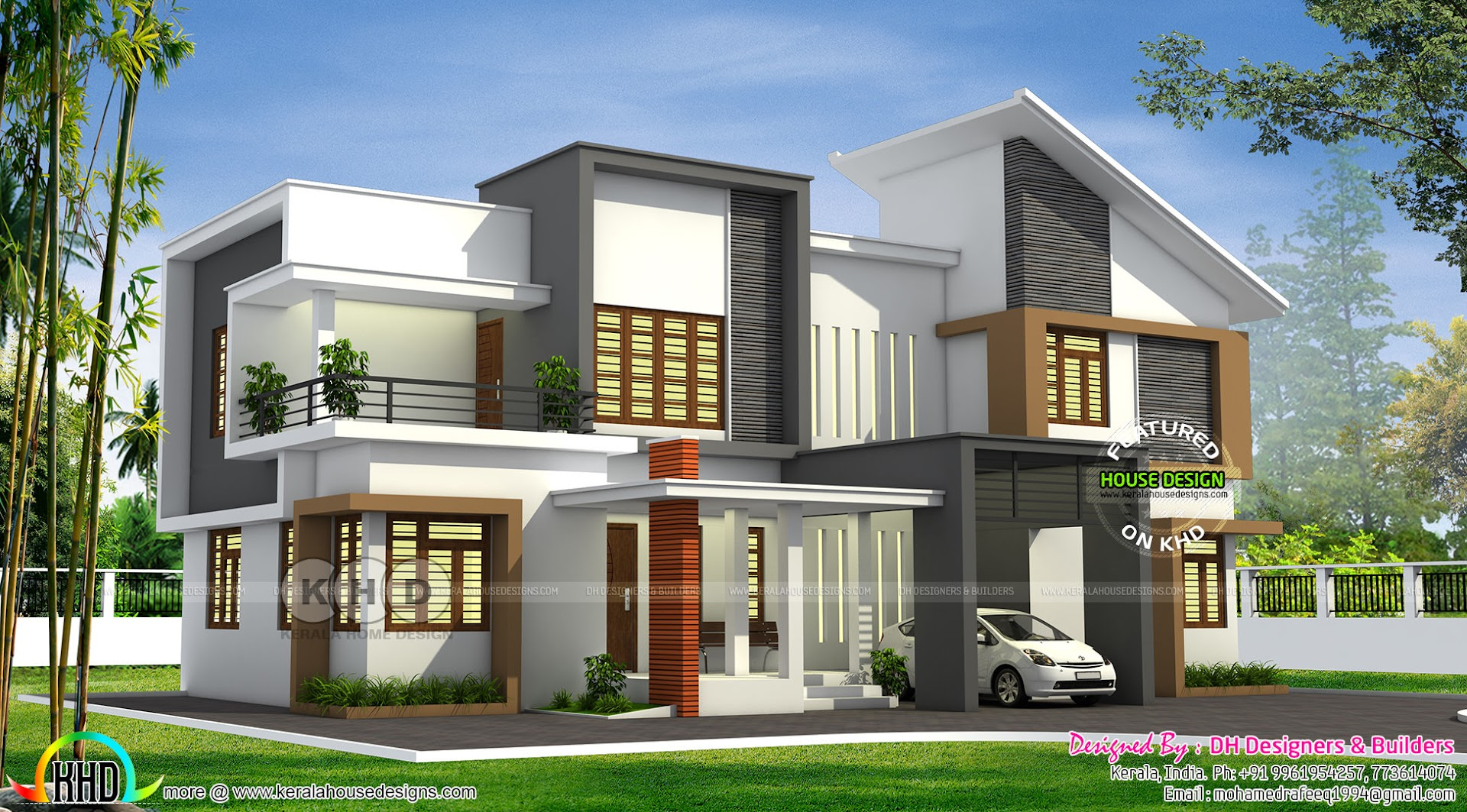 Contemporary home by dh designers and builders kerala for Contemporary house builders