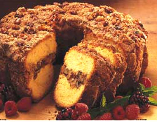 Jewish Coffee Cake In Tube Pan