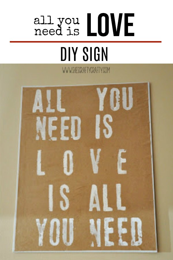 all you need is love, sign