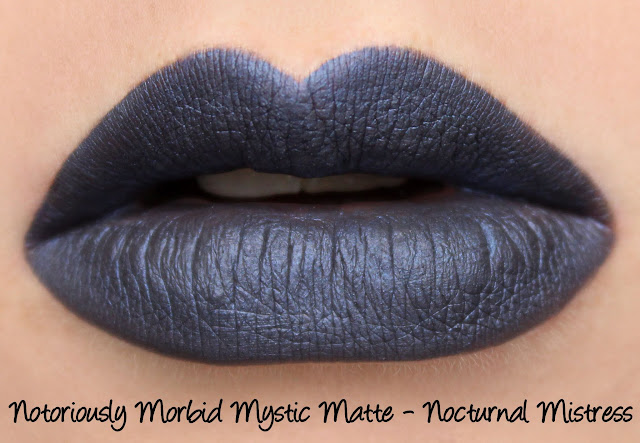 Notoriously Morbid Nocturnal Mistress Mystic Matte Swatches & Review