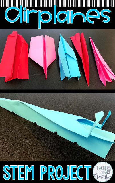It's a Paper Plane STEM Challenge. This multi-day activity will have your students experimenting and modifying planes to finally use their flight data to design the best airplane model. Includes detailed teacher directions!