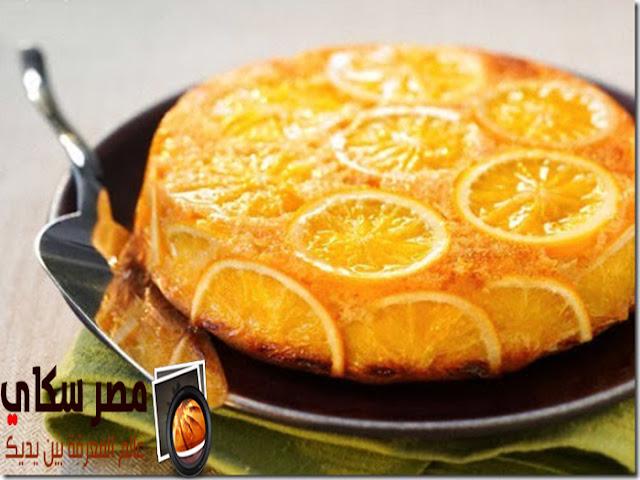 طريقة عمل جاتوه البرتقال بالخطوات كاملة