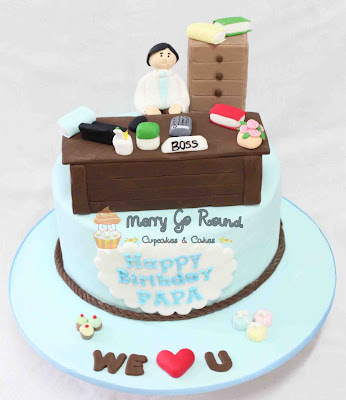 Merry Go Round Cupcakes Amp Cakes Office Birthday Cake