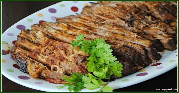 Slow Cooker BBQ Brisket Recipe