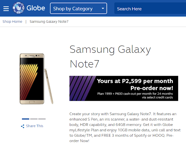 Globe Issues Statement on Samsung Galaxy Note 7 Recall