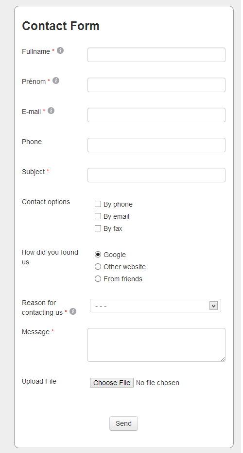 HTML5 AJAX Contact Form Generator