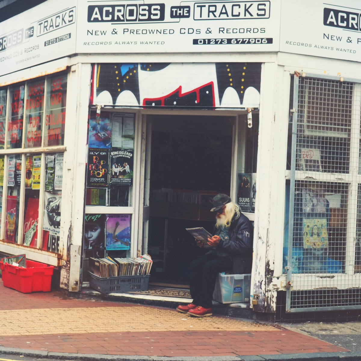 North Laines Record Shop Brighton Travel Blogger