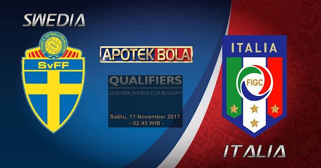 Prediksi Agen Betting - Swedia vs Italia 11 November 2017