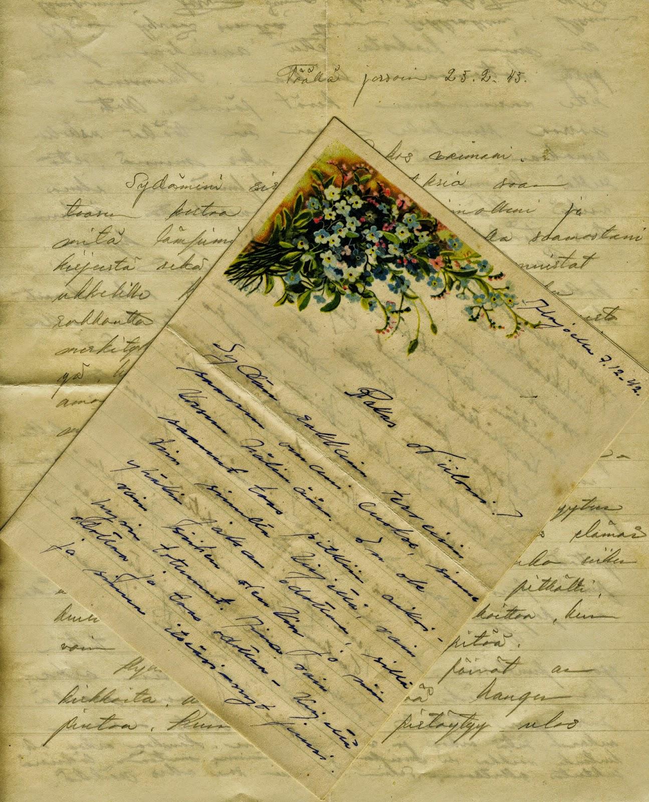 sota-ajan kirje