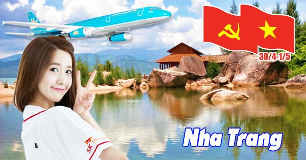 Mua vé máy bay ngày lễ 30/4 và 1/5 đi Nha Trang