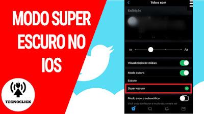 Twitter libera função modo Super escuro para ios