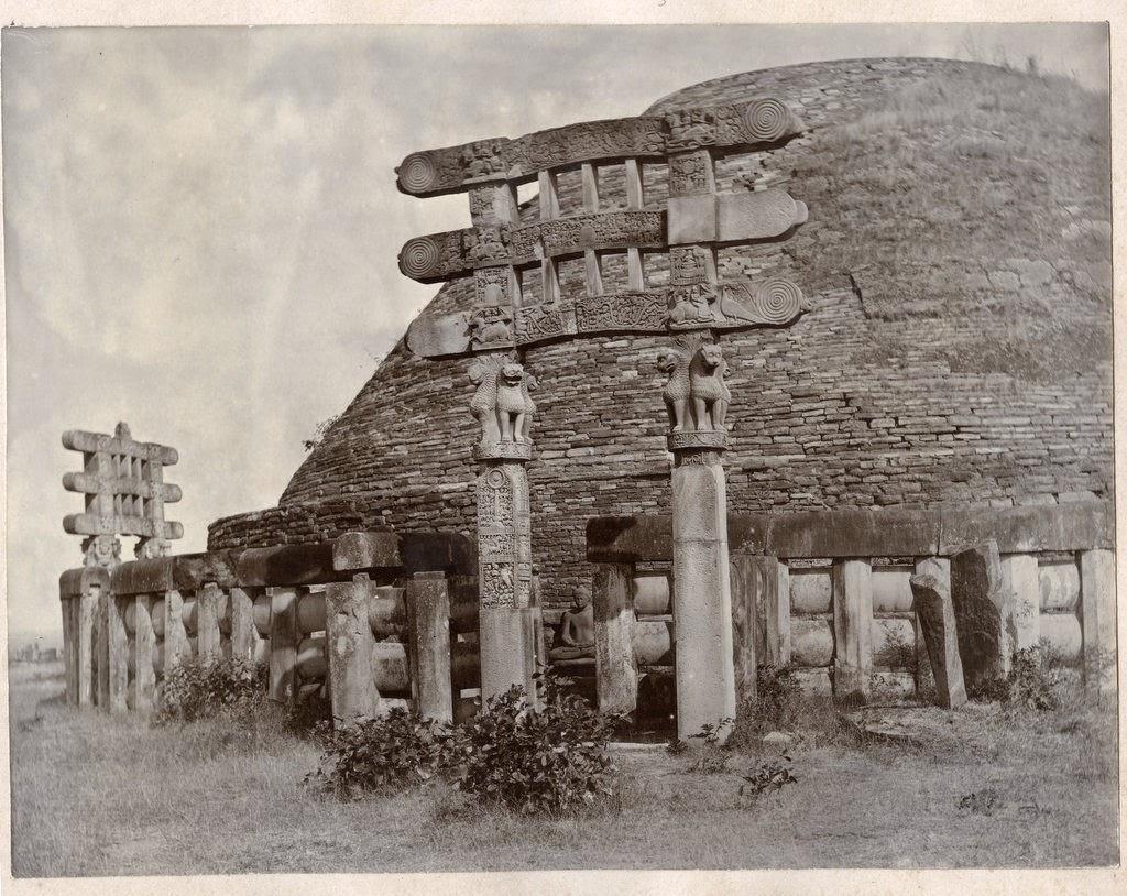 Sanchi Stupa Dome and Gates