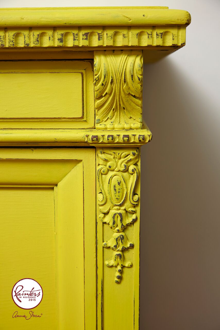 Annie Sloan • Paint & Colour: Jelena Pticek\'s English Yellow Sideboard