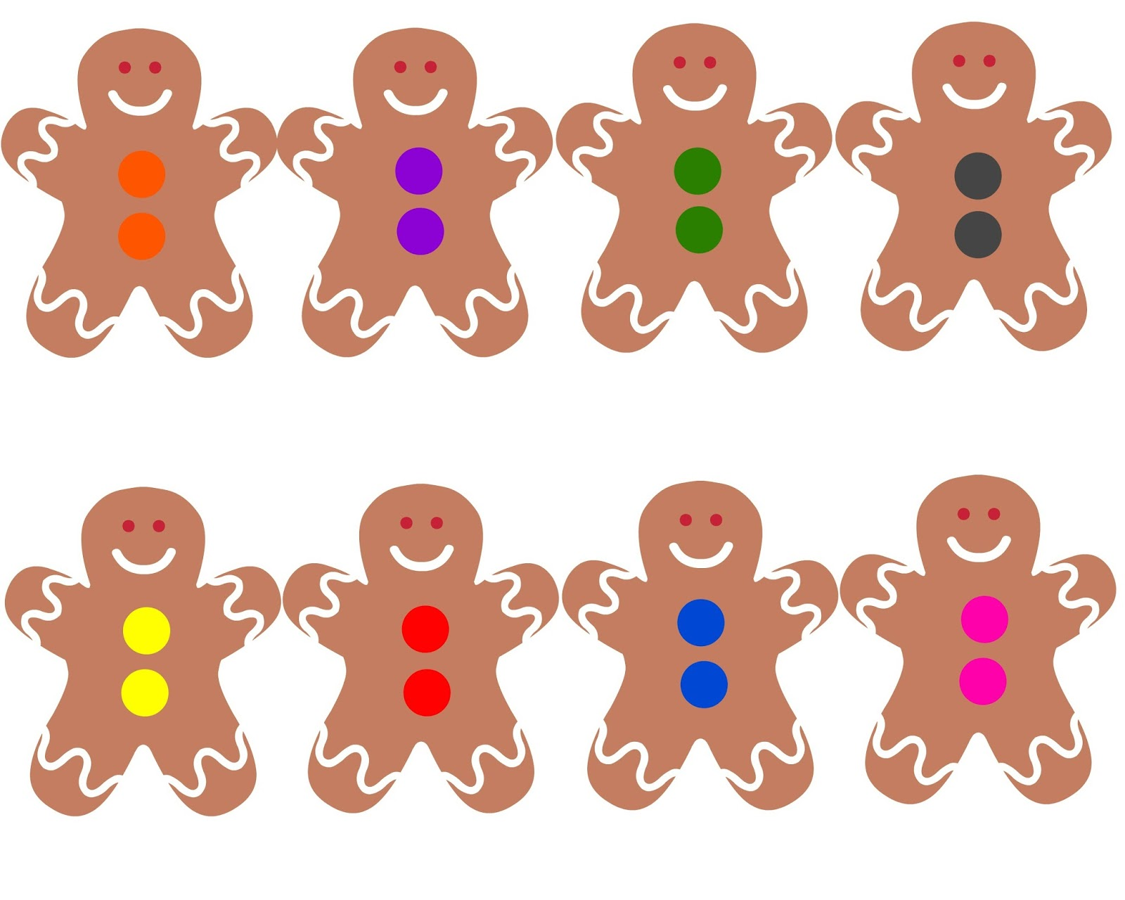 Toddler Approved Gingerbread Boy Color Bingo Game