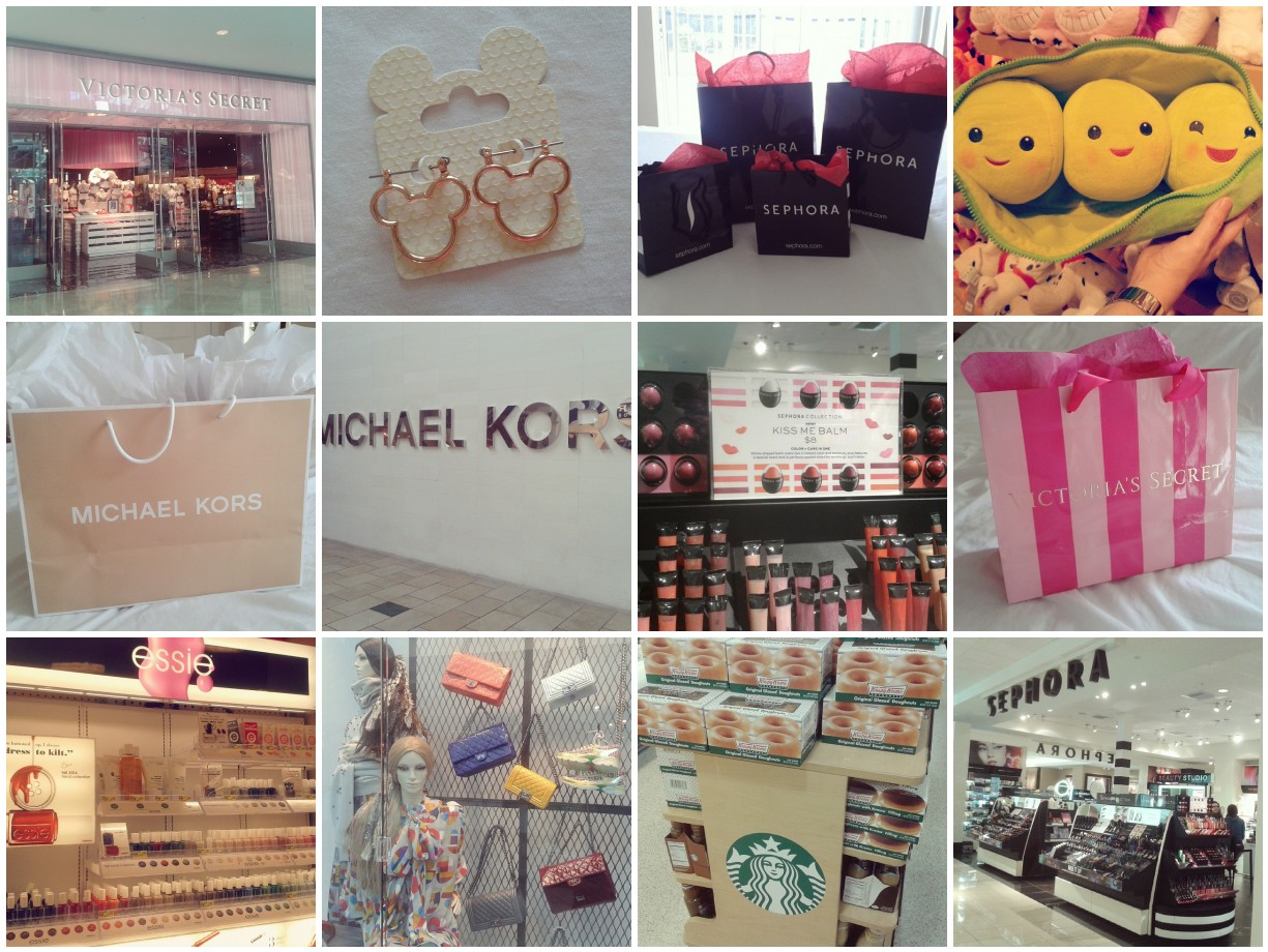 American Shopping Florida Instagram Sephora Michael Kors Chanel Victoria's Secret Essie Disney Krispy Kreme Starbucks