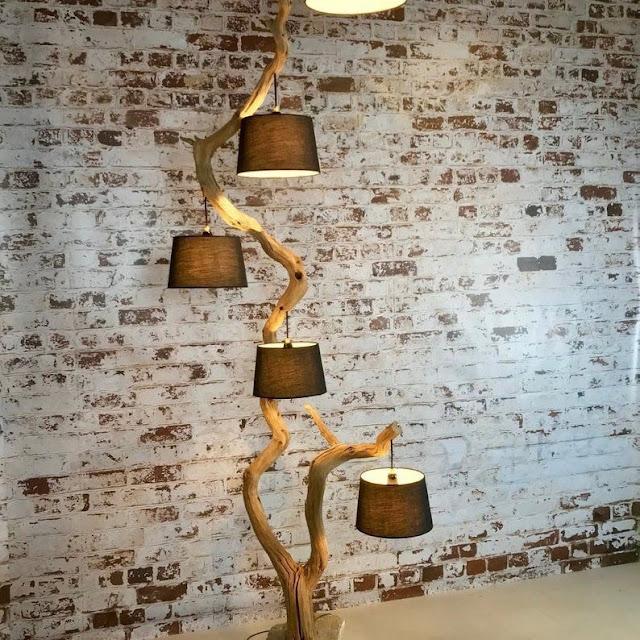 Luminaria Artesanal Com Galhos de Árvore