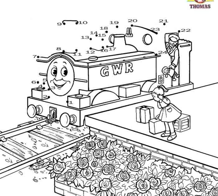 Stanley the tram engine coloring pages ~ Kids games dot to dot numbers coloring pictures free ...