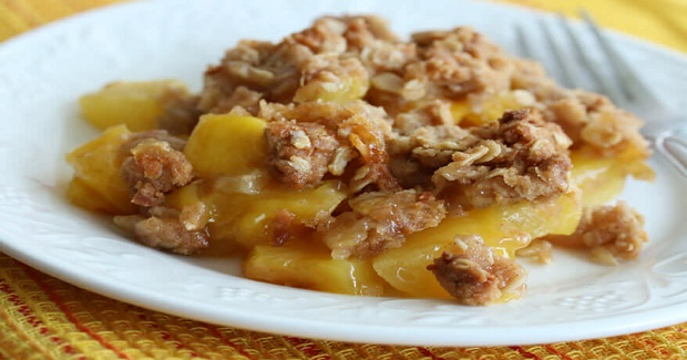 Pineapple Mango Coconut Crumble With Candied Ginger Recipe