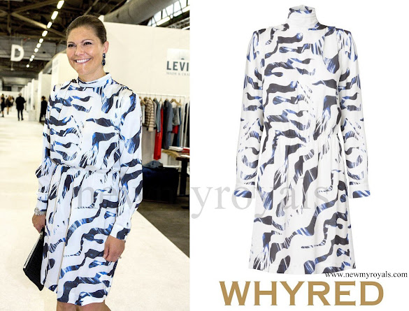 Crown Princess Victoria wore WHYRED Loise Print Dress -Zebra