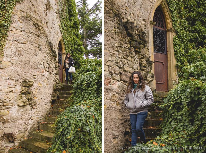 descendo escada em schengen