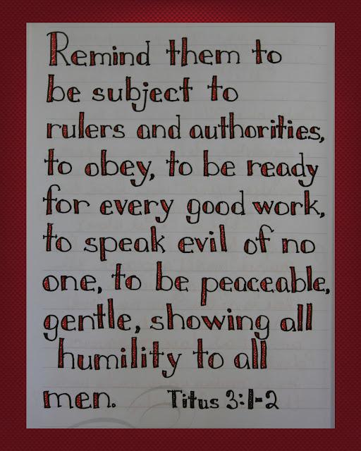 Scripture Writing, Titus 3:1-2