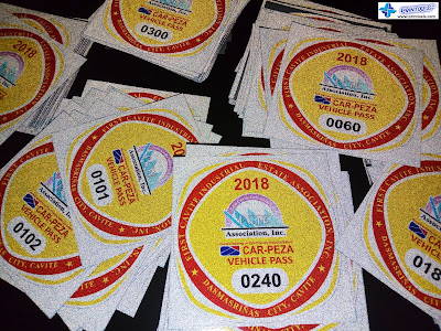 Car-PEZA Vehicle Pass Stickers - FCIE