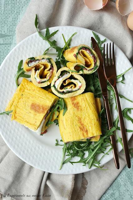 Gefülltes Omelett aus dem Ofen | Eierspeise | Rezept | Essen | Kochen
