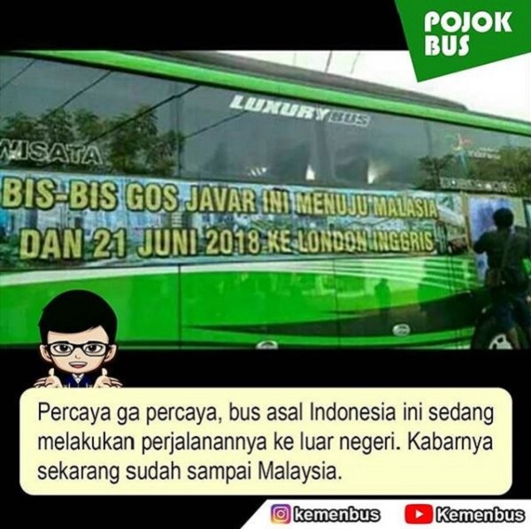 Naik Bus ke Luar Negeri