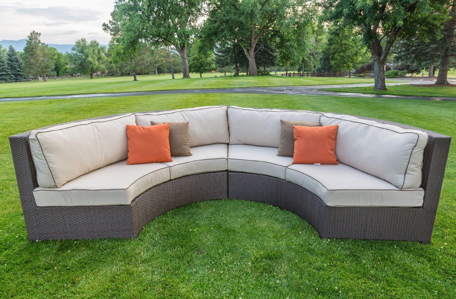 Curved Sofa Couch For Sale: Curved Outdoor Sectional Sofa