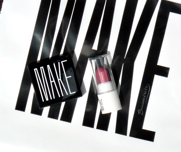 Introduction of MAKE beauty and review of Alabaster Matte Finish Shadow and Taffy Lipstick