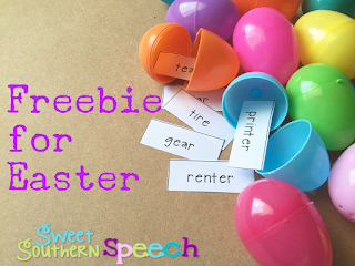 Easter Speech Therapy Freebie