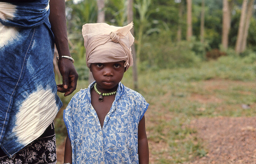 Girl from the Kpelle tribe in Kpaiyea, Liberia