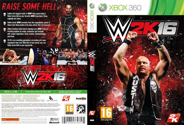 Capa WWE 2k16 Xbox 360